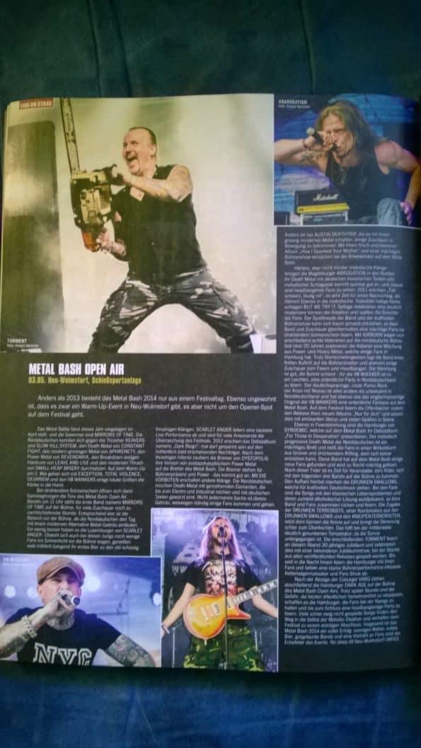 Metal Bash Bericht Legacy 04/2013 P. 240 ff.